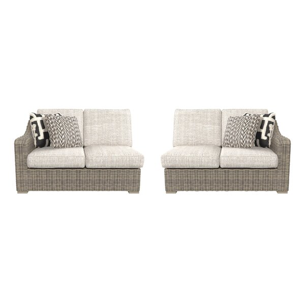 Buff Loveseat with Cushions by Greyleigh