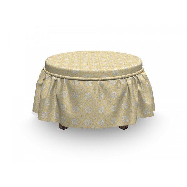 Quatrefoil Lattice Girih 2 Piece Box Cushion Ottoman Slipcover Set By East Urban Home