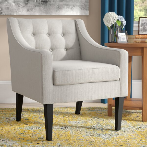 Aileen Mid Century Tailored Tufted Accent Armchair
