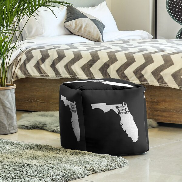 Home Sweet Jacksonville Cube Ottoman By East Urban Home