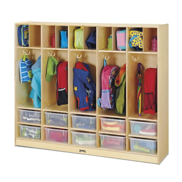 KYDZ 4 Tier 5 Wide Coat Locker by Jonti-Craft