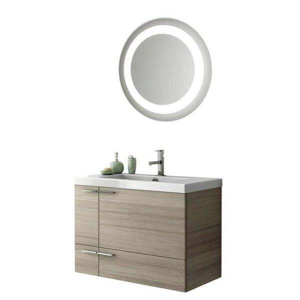 Letourneau 34 Wall Mounted Single Bathroom Vanity Set with Mirror