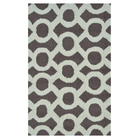 Griffey Hand-Hooked Taupe Area Rug by Threadbind