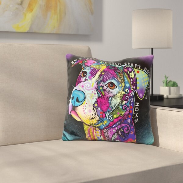 In A Perfect World Throw Pillow by East Urban Home