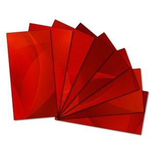 Custom 3 X 6 Beveled Gl Subway Tile In Red