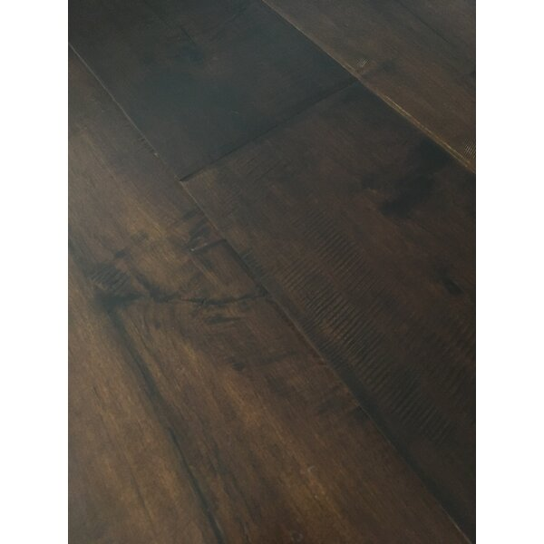 Rome 7.5 Engineered Maple Hardwood Flooring in Dark Brown by Dekorman