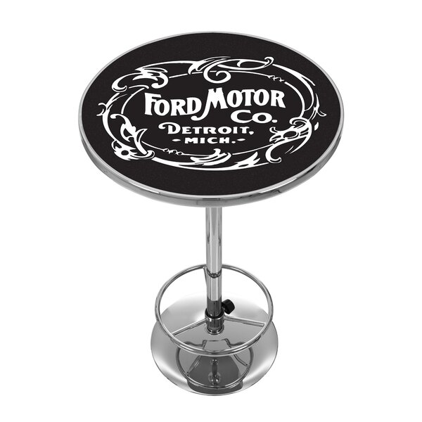 Vintage 1903 Ford Motor Co. Pub Table by Trademark Global