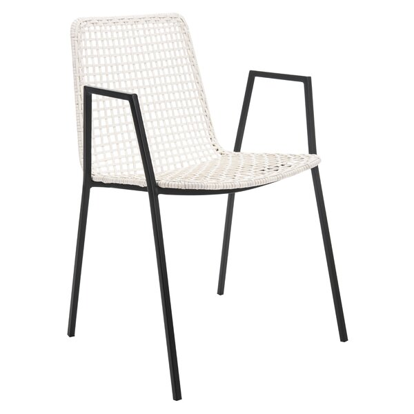 Bandelier Arm Chair In White (Set Of 2) By Mistana