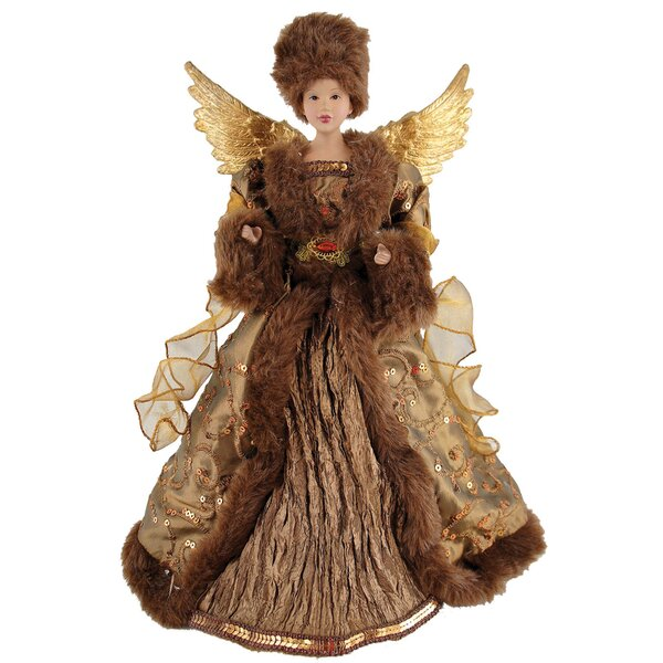 African American Earthly Angel Tree Topper by Astoria Grand