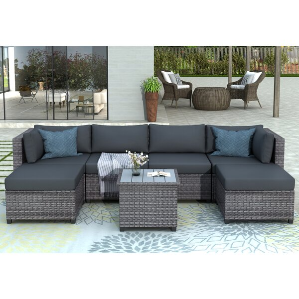 Anjan 7 Piece Rattan Multiple Chairs Seating Group with Cushions