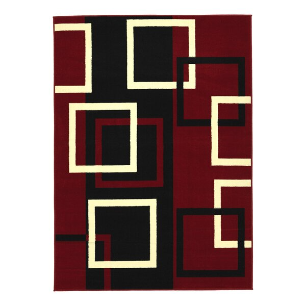 Clifton Dark Red Area Rug by sweet home stores