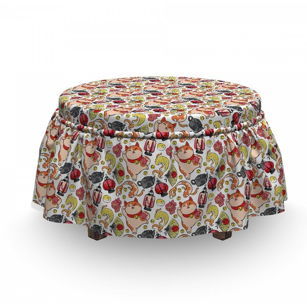 Fortune Elements Ottoman Slipcover (Set Of 2) By East Urban Home