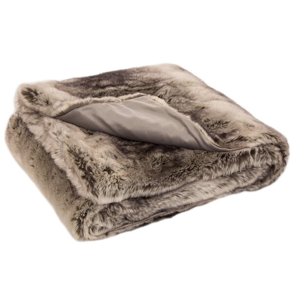 Antonelli Faux Fur Throw by Foundry Select