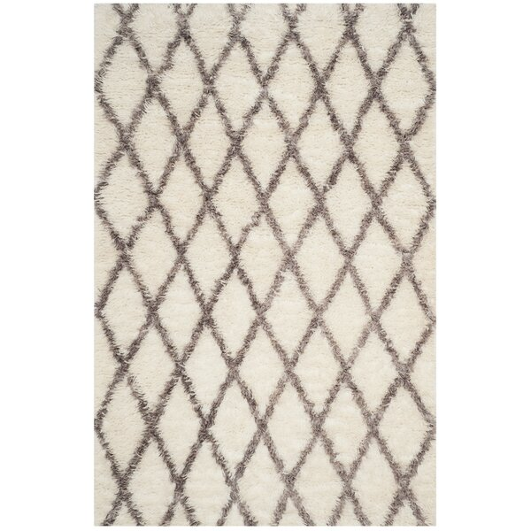 Lohan Hand-Tufted Ivory/Gray Area Rug by Brayden Studio