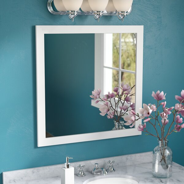Square Wood Frame Vanity Wall Mirror by Red Barrel Studio
