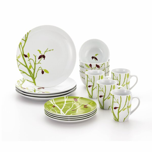 Seasons Changing 16 Piece Dinnerware Set Service for 4 by Rachael Ray