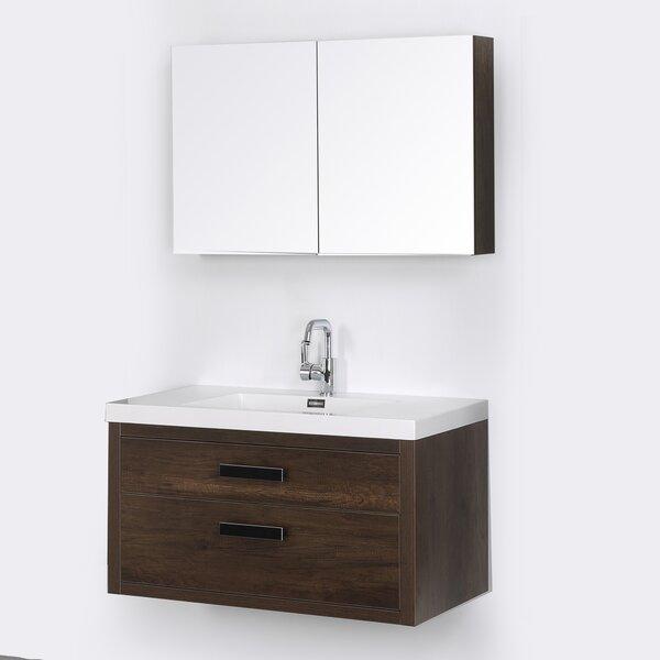 39 Wall Mounted Single Bathroom Vanity Set with Mirror by Streamline Bath