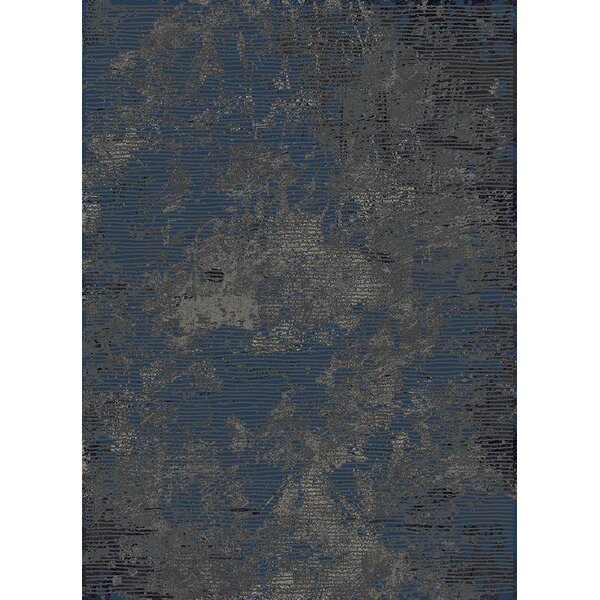 Favor Abstract Thunder Blue Area Rug by 17 Stories
