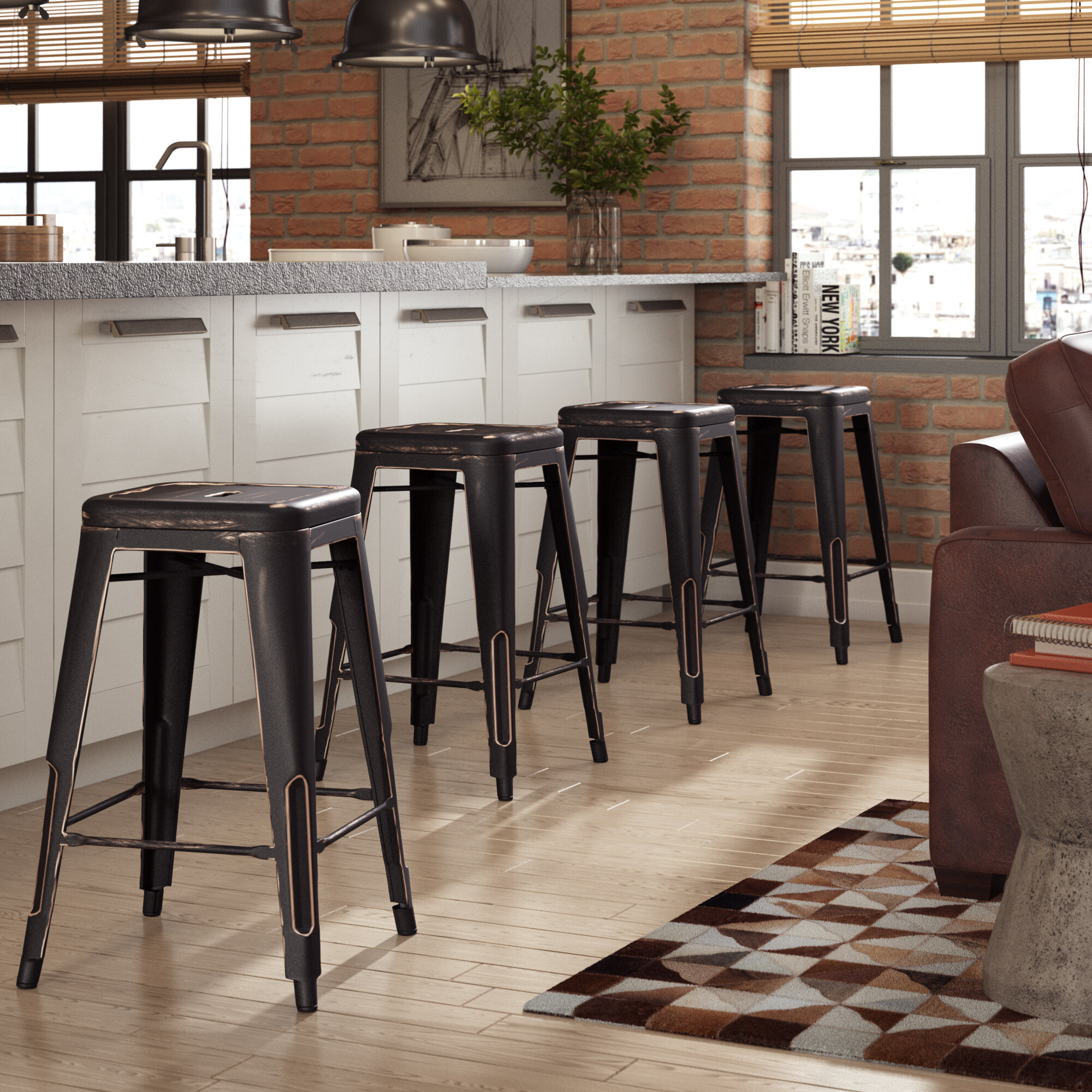 Fine Halie 26 Bar Stool Gmtry Best Dining Table And Chair Ideas Images Gmtryco