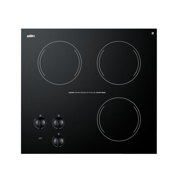 Summit 21 Electric Radiant Cooktop with 3 Burners