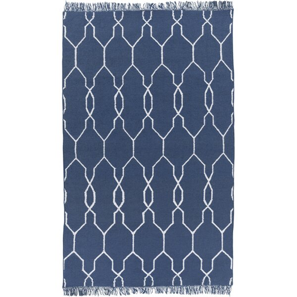 Larksville Navy/Ivory Area Rug by Charlton Home