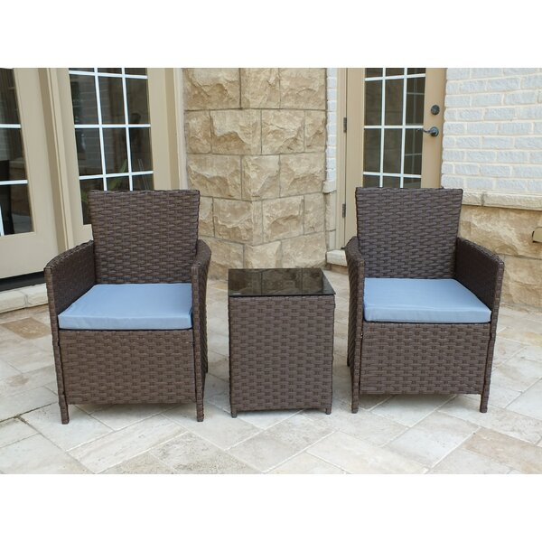 Rockleigh 3 Piece Conversation Set with Cushions b