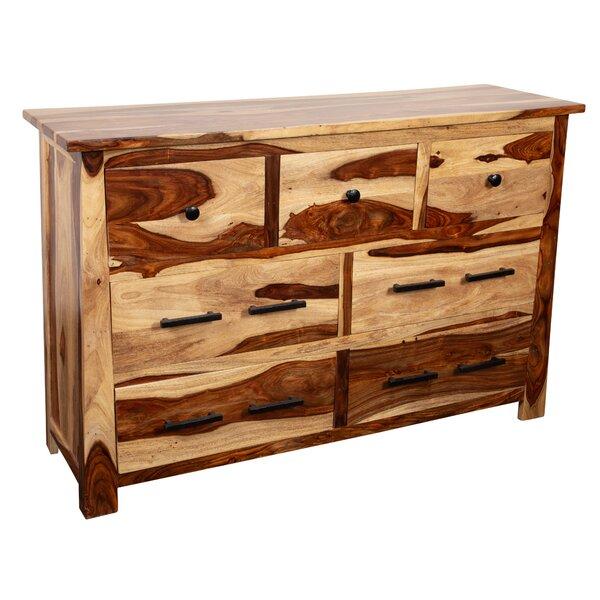 Marissa Solid Sheesham Wood 7 Drawer Dresser by Loon Peak