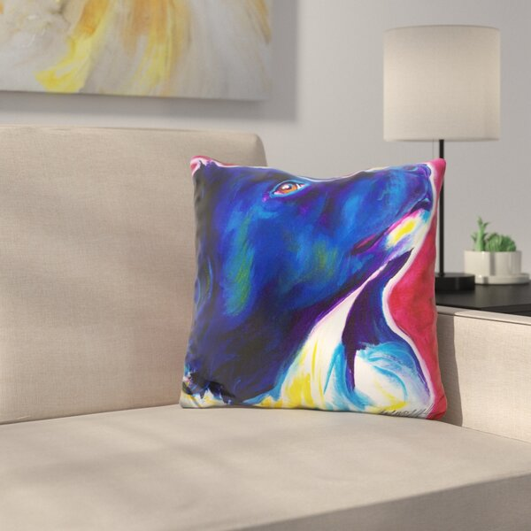 Border Collie Bright Future Throw Pillow by East Urban Home