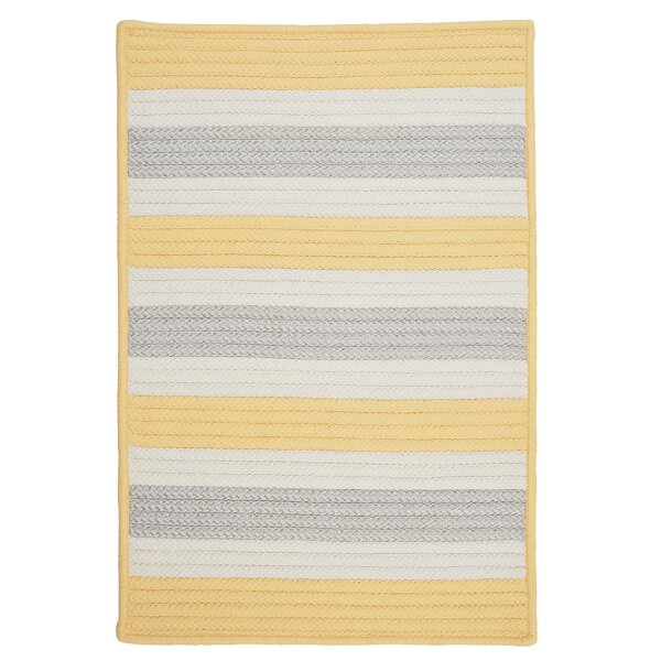 Georg Yellow Shimmer Indoor/Outdoor Rug by Viv + Rae
