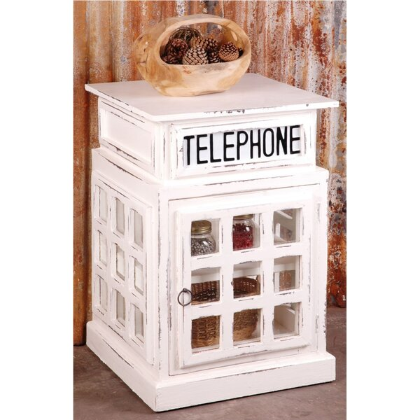 Shirleen Phone Booth End Table with Storage by August Grove