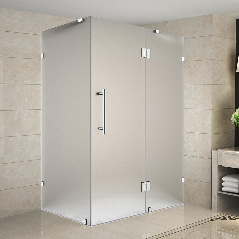 Aston avalux 36 x 32 x 72 completely frameless hinged shower avalux 36 x 32 x 72 completely frameless hinged shower enclosure frosted planetlyrics Gallery