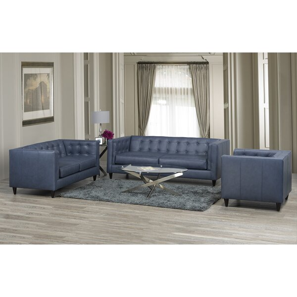 Pranzal 3 Piece Living Room Set by 17 Stories