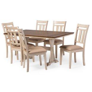 baxton studio roseberry 7 piece dining set - Oak Dining Table Set