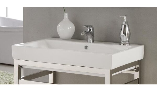 Milano Ceramic 30 Console Bathroom Sink with Overflow by Empire Industries