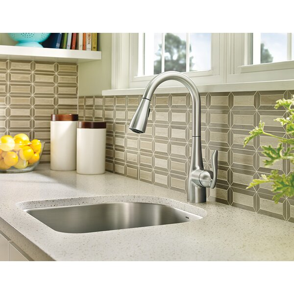 Arbor Pull Down Single Handle Kitchen Faucet with Reflex System and Power Boost by Moen