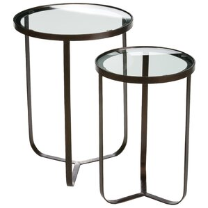 Dansville 2 Piece Glass Top End Table Set by Longshore Tides