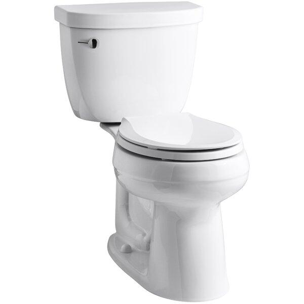 Cimarron Comfort Height Two-Piece Round-Front 1.28 GPF Toilet with Aquapiston Flush Technology by Kohler