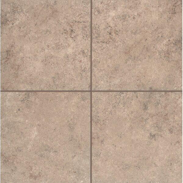 Pensdale Floor Glazed 12 x 12 Porcelain Field Tile in Brown Shell by Mohawk Flooring