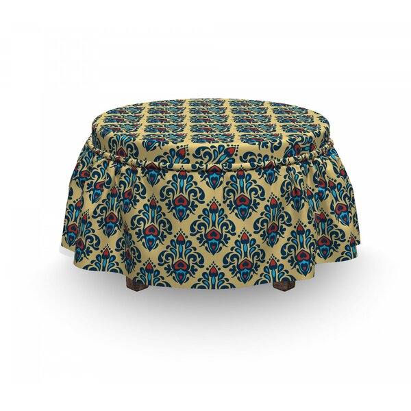 Medieval Classic Motifs Ottoman Slipcover (Set Of 2) By East Urban Home