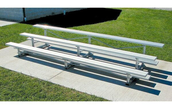 Aluminum Three-Row Bleacher by Ultra Play