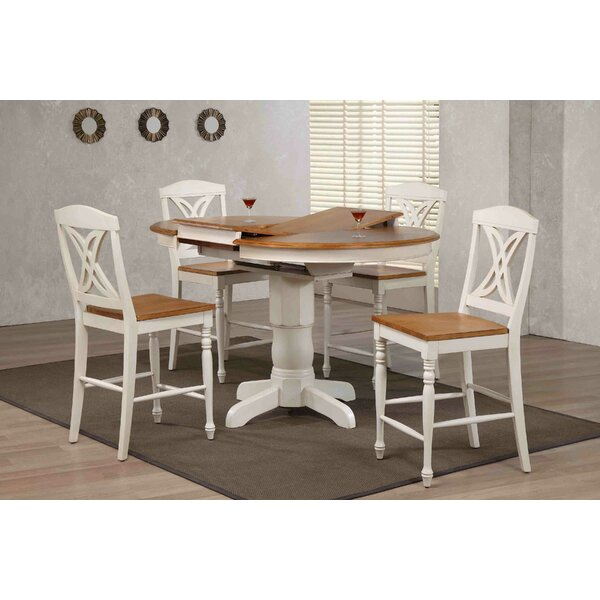 Butterfly Back Counter Height 5 Piece Pub Table Set by Iconic Furniture