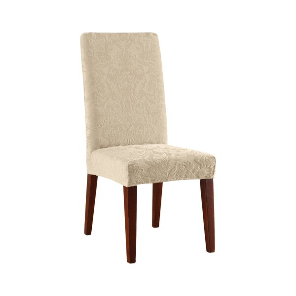 Stretch Jacquard Damask T-Cushion Dining Chair Slipcover By Sure Fit