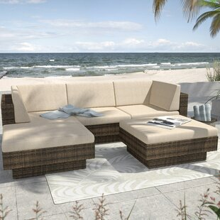 Park Terrace Saddle Strap 5 Piece Sectional Set with Cushions By dCOR design