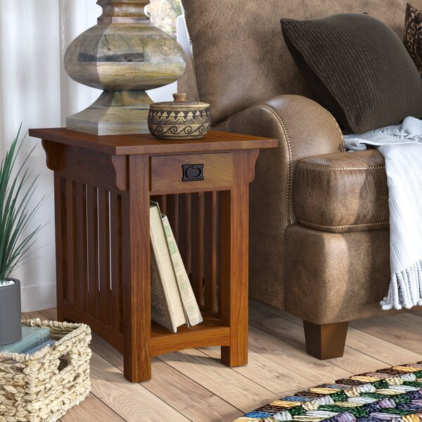 Brockton End Table With Storage By Loon Peak Cheap