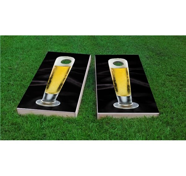 Nice Cold Tall Beer Cornhole Game Set by Custom Cornhole Boards