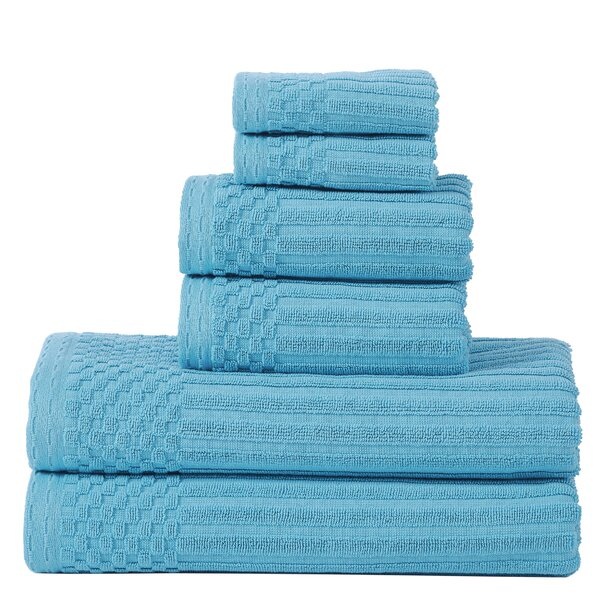 Bergquist 6 Piece Cotton Towel Set by Charlton Home