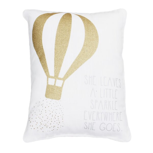 Avebury She Leaves a Little Sparkle Wherever She Goes Sequined Lumbar Pillow by Harriet Bee