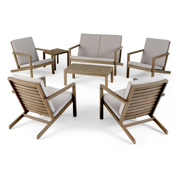 Gillum 8 Piece Multiple Chairs Seating Group with Cushions by Highland Dunes