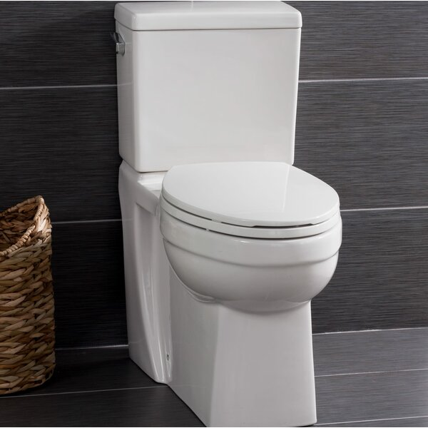 High Efficiency ADA Height 1.28 GPF Elongated Two-Piece Toilet by Miseno