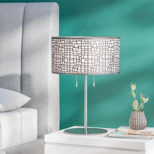Stainless steel table lamps youll love wayfair parag 22 table lamp aloadofball Image collections